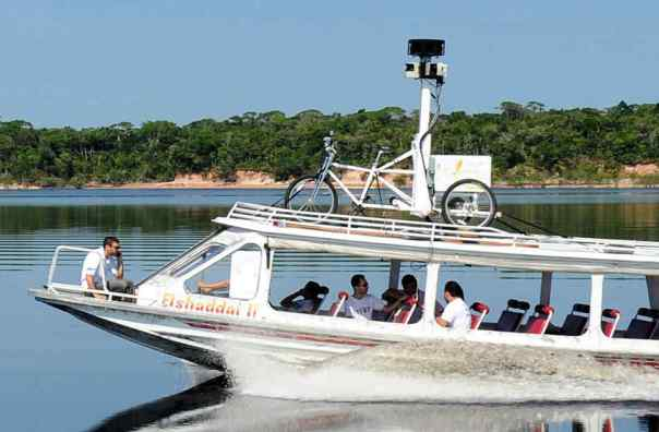 Google Maps Street View trike on boat 2