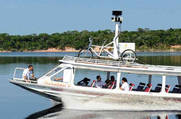 Google Maps Street View trike on boat 2