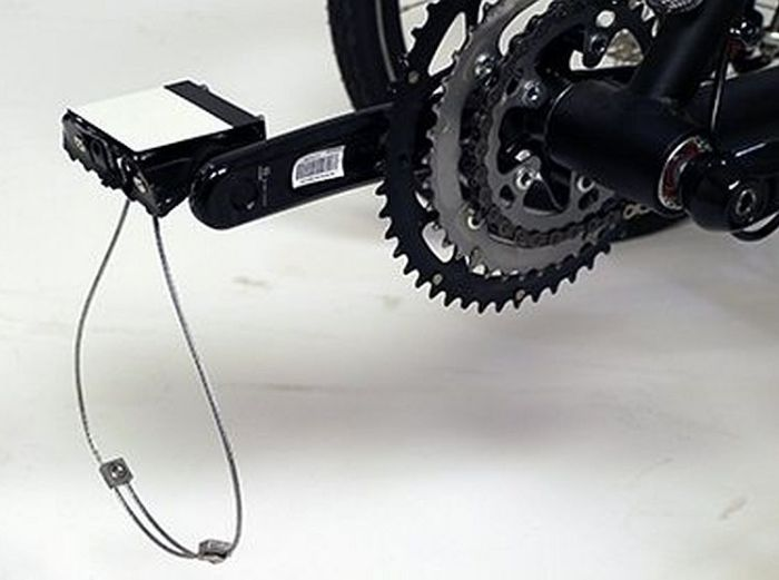 heel sling pedal rotated down