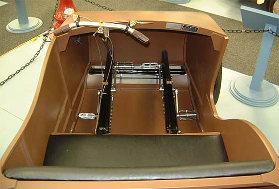 pedals inside