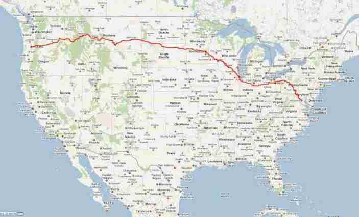 ROAM 2011 route