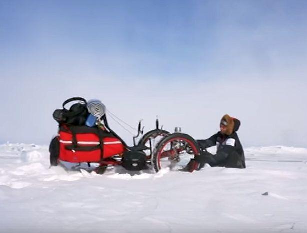 Azub FAT trike on frozen lake 13