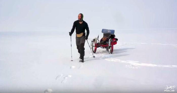 Azub FAT trike on frozen lake 3