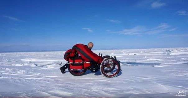 Azub FAT trike on frozen lake 6