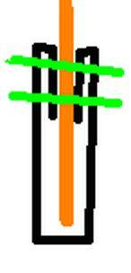 black satin finish 2 inch ribbon folded over flag