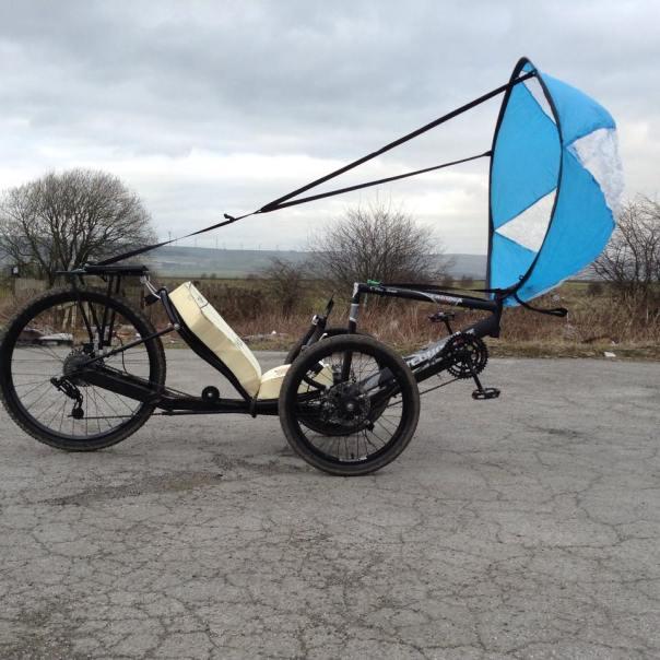 parasail chute on trike