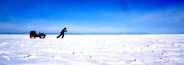 Azub FAT trike on frozen lake 17