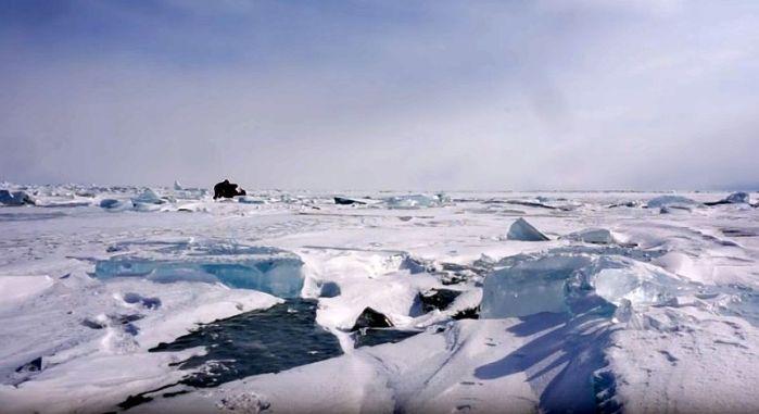 Azub FAT trike on frozen lake 24