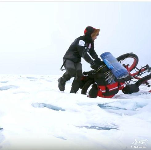 Azub FAT trike on frozen lake 27