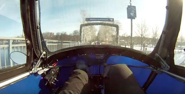podride driver looking thru windshield