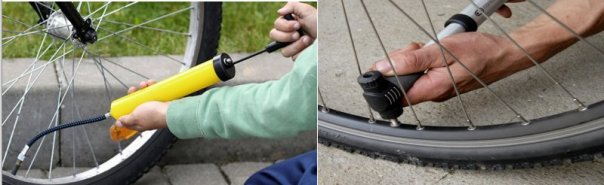 pumping up bike tire 3