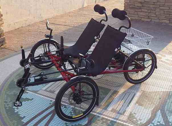side by side tandem tadpole trike 2