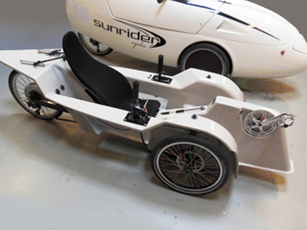 sunrider velomobile inside body