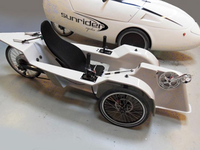 sunrider velomobile inside body
