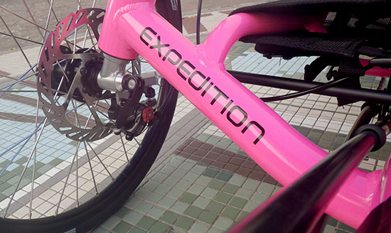 pink Catrike Expedition