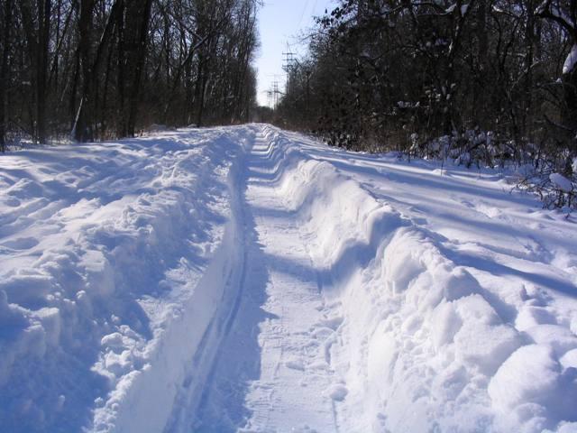 plowed path using v plow 2