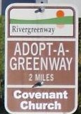 Adopt a Greenway sign