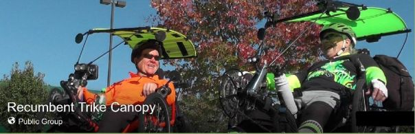 Recumbent Trike Canopy FB group header