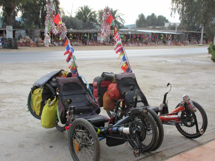 trikes loaded down