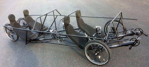 4 seat Trisled velomobile frame