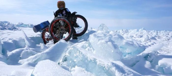 Azub FAT trike on frozen lake 8