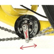 catrike idler pulley with lines
