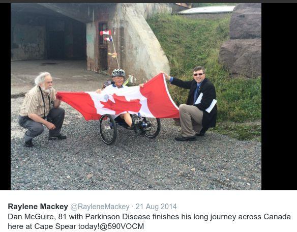 Dan McGuire finishes journey
