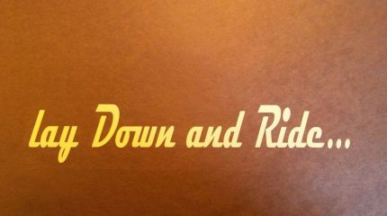 lay down and ride decal