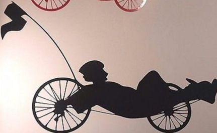 recumbent trike vinyl window sticker 4
