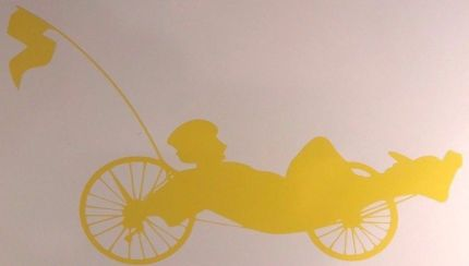 recumbent trike vinyl window sticker 5