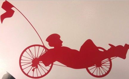 recumbent trike vinyl window sticker 6