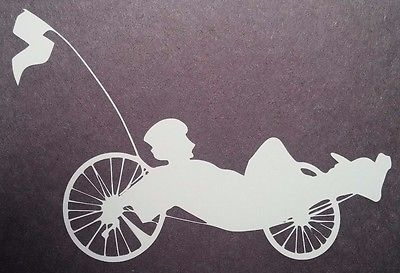 recumbent trike vinyl window sticker