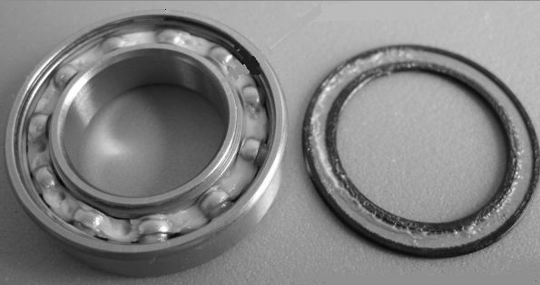 bearing with seal removed
