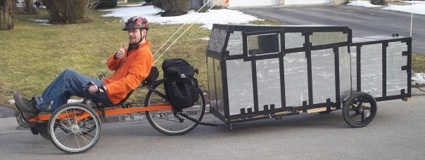how to make a bicycle camper