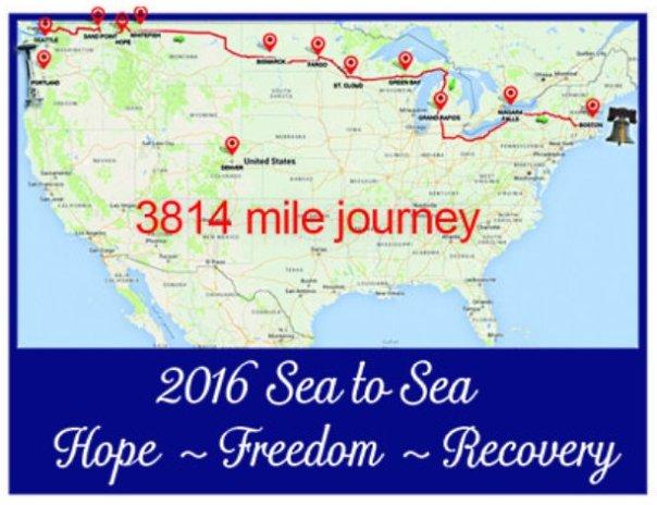 sea to sea tour map