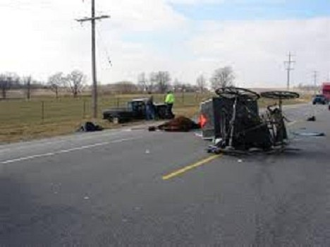Amish horse and buggy accident