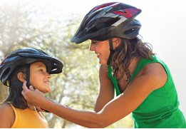 bicycle helmets mother & child
