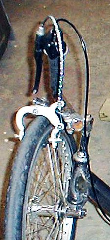 inverted twist shifter and brake lever
