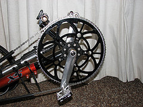 large sprocket on tadpole trike