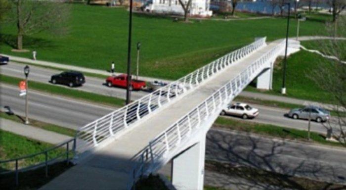 bike trail bridge over busy road Wooster, Ohio