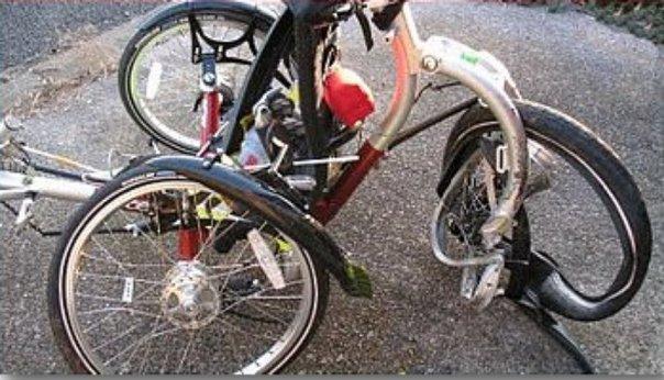 ICE trike smashed up