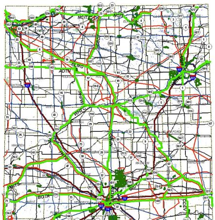 Indiana northern planned trail network