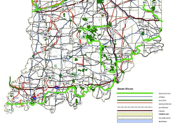 Indiana southern planned trail network