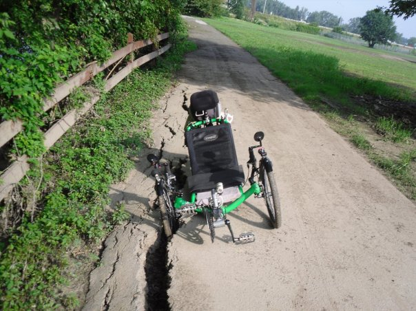 Maumee Pathway river bank erosion problem my trike front wheel down in opening
