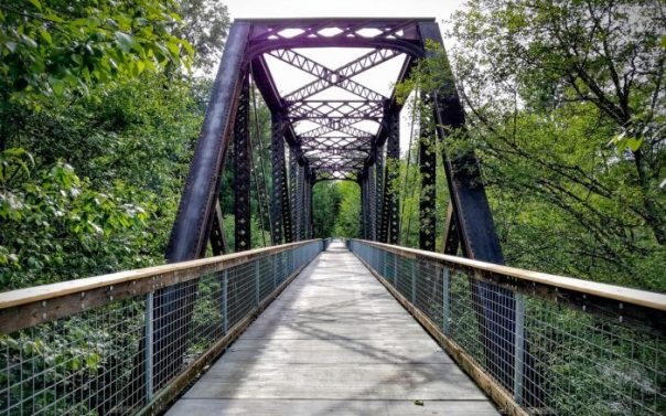railroad bridge used for bike trail