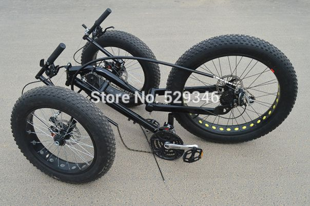 Chinese FAT tire trike folded