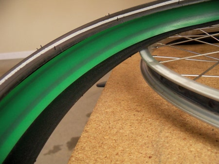 tire liner installed