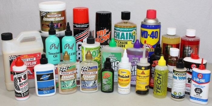 variety of lubes