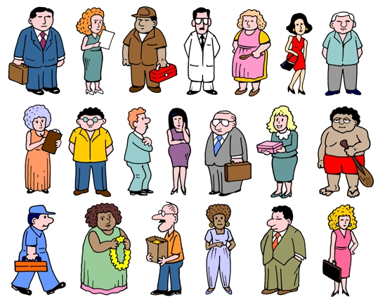 Картинки разных людей для описания украсить свой