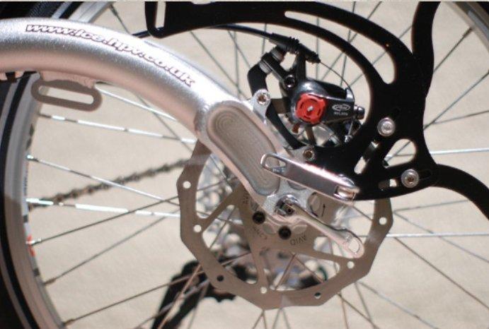Locking Parking Brake levers for recumbent trike,